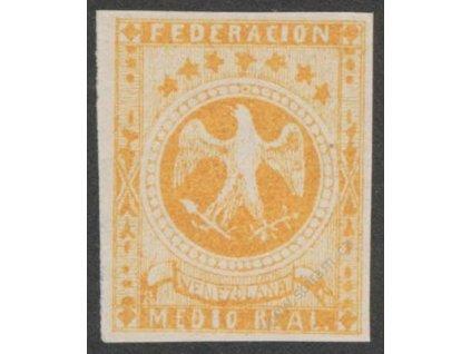 Venezuela, 1863, 1/2R Znak, MiNr.9, **