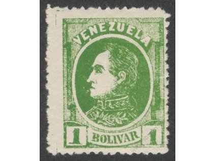 Venezuela, 1880, 1B Bolívar, * po nálepce, lehké vlomy