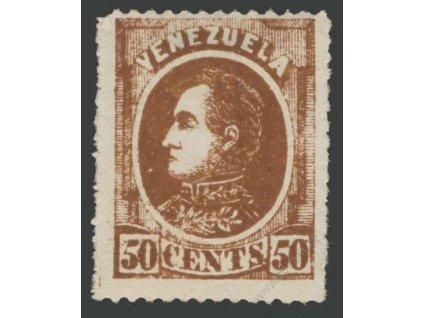 Venezuela, 1880, 50C Bolívar, MiNr.26, * po nálepce