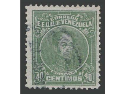 Venezuela, 1915, 40C Bolívar, MiNr.100, razítkované