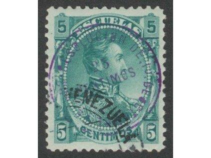 Venezuela, 1892, 25C/5C Stempelmarken, razítkované