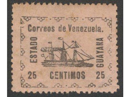 Venezuela, Guyana, 1903, 25C Lodička, * po nálepce