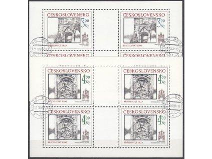 1986, 3-4Kčs Bratislavské motivy, PL, Nr.PL2756-7, razítkované, denní razítko