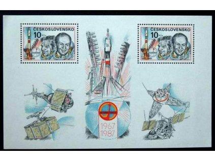 1987, 10Kčs aršík Interkosmos, Nr.A2791 **