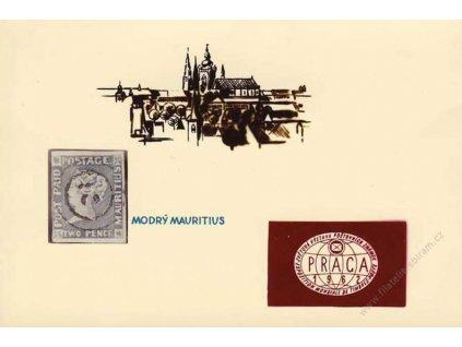 1962, Praga, pamětní karta, malý formát, dv