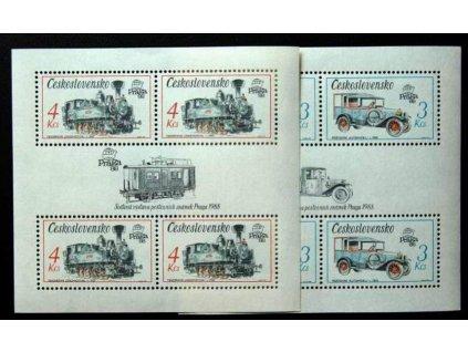 1987, 3-4Kčs aršíky Technické památky ČSSR, Nr.A2795,7, **