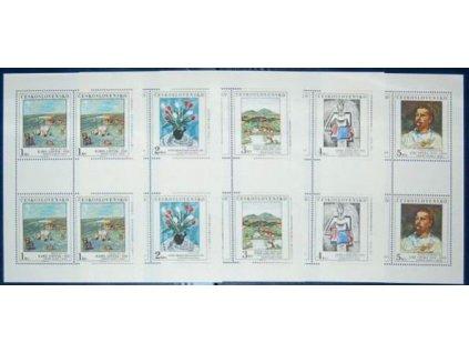 1987, 1-5Kčs PL - Umění, Nr.PL2818-22, **