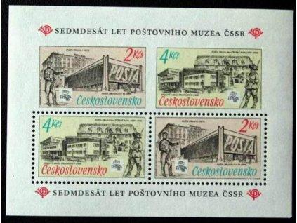1988, 2-4Kčs aršík Poštovní muzeum, Nr.A2840, **