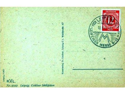 Sovětská zóna, 1946, pohlednice, pamětní razítko