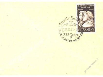 Saarland, 1951, FDC se zn. MiNr.308, dopis