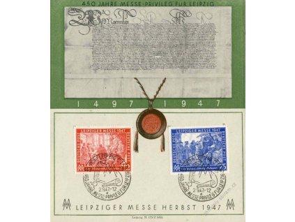 Společné vydání, 1947, pamětní destičky, razítko