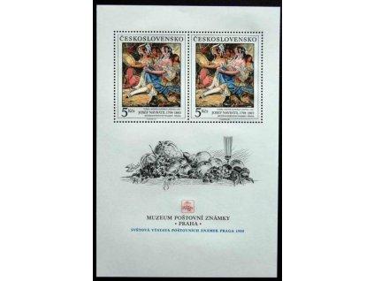1988, 5Kčs aršík Muzeum poštovní známky, Nr.A2860, **