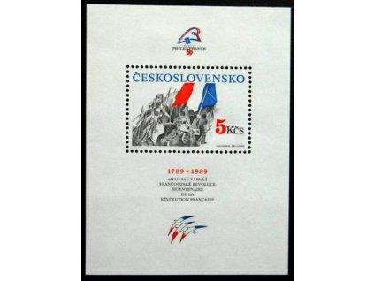 A-1989, 5Kčs aršík Dobytí Bastily, Nr.A2896