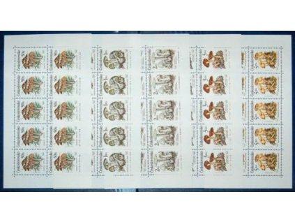 1989, 50h-5Kčs PL - Jedovaté houby, Nr.PL2909-12, **