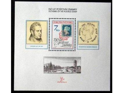 1990, 7Kčs aršík Výročí známky, Nr.A2940, **