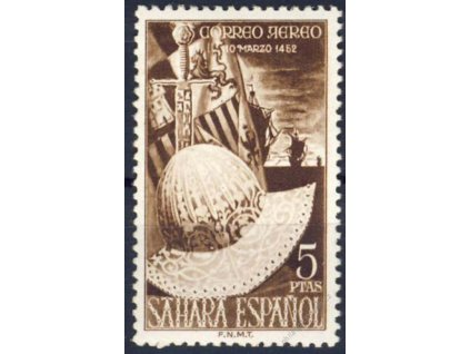 Sahara, 1952, 5Pta MiNr.128, ** , skvrnky