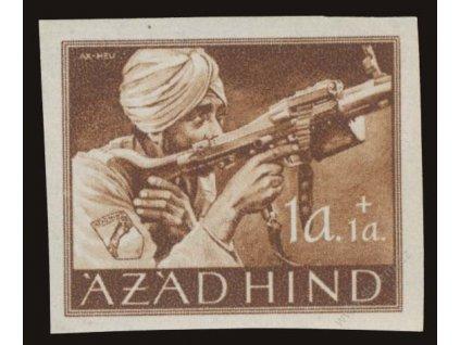 Azad Hind, 1943, 1A Výjev, MiNr.IB, **