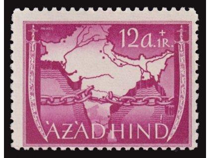 Azad Hind, 1943, 12A Výjev, MiNr.VIA, **