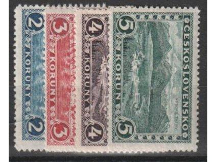 1926, 2-5Kč Praha-Tatry, Nr.225-8, * po nálepce