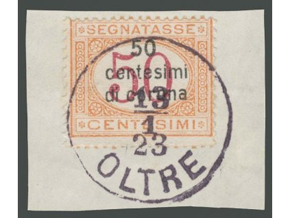 Trentino, 1919, 50C/50C doplatní, výstřižek, MiNr.6