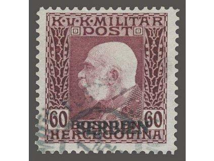 Serbien, 1914, 60H Franc Josef s přetiskem, MiNr.15, razítko