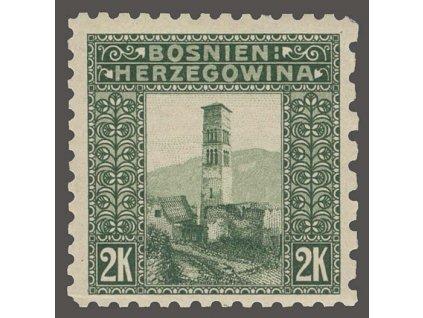 1906, 2Kr Kostel, L 9 1/4:6 1/2:9 1/4:9 1/4,  * po nálepce