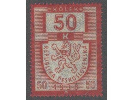 50K karmínová/modrá 1938M, **