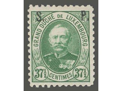 1891, 37 1/2C služební, MiNr.52, * po nálepce