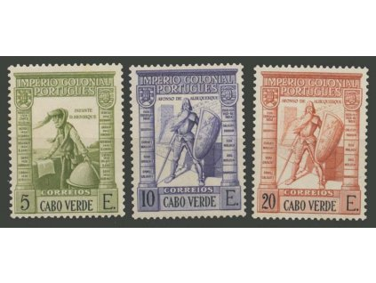 Cabo Verde, 1938, 5, 10 a 20E koncové hodnoty série, **