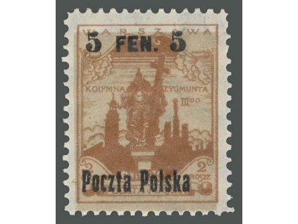 1918, 5F/2Gr s posunutým podtiskem, MiNr.2, nepatrná *