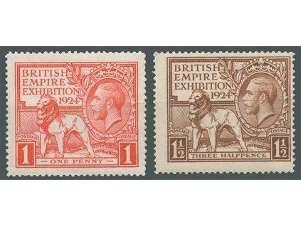 1924, 1-1 1/2P Výstavní série, MiNr.166-67, **