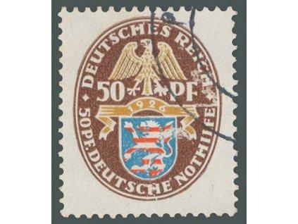 1926, 50Pf Erb, MiNr.401, razítkované, mírně odřený líc