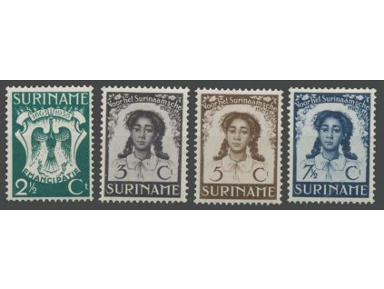 Suriname, 1938, 2 1/2-7 1/2C série, MiNr.203-6, těžší *
