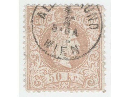 1867, 50Kr Franc Josef, razítkované