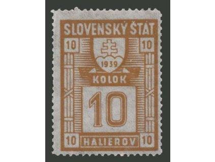 1939, 10h kolek, **