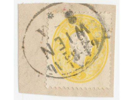 Rakousko, 1860, 2Kr Franc Josef, výstřižek, MiNr.18