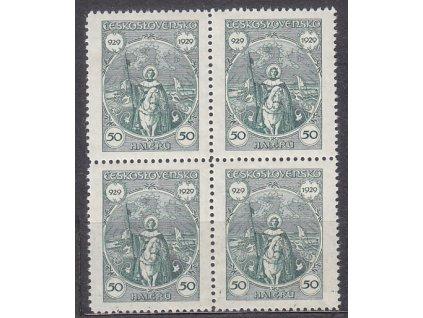 1929, 50h sv.Václav, 4blok, Nr.243, **/*