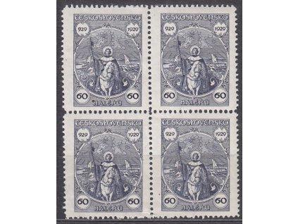1929, 60h sv. Václav, 4blok, Nr.244, **