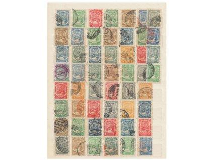 Kolumbie, Scadta, 52 kusů známek na desce A4, razítkované