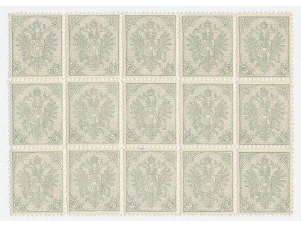 1900, 2H Znak, 15blok, lehce povoleno v perforaci, **