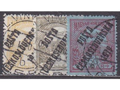 2,6 a 50f Turul, Nr.90,92,93, razítkované, ilustrační foto