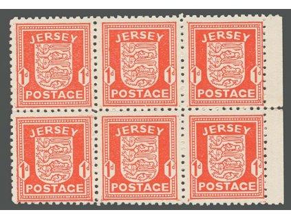 Jersey, 1941, 1P Znak, 6blok, MiNr.2, **