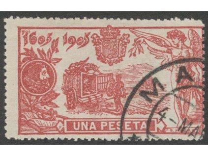 1905, 1Pta Don Quijote, MiNr.227, razítkované