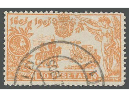 1905, 10Pta Don Quijote, MiNr.229, razítkované