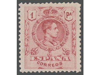 1909, 1Pta Alfons, MiNr.240A, * po nálepce
