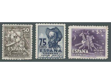 1947, 50C - 5.50 Pta série Den známky, MiNr.945-47, **