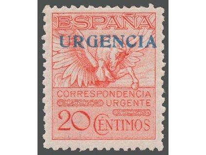 1930, 20 C Spěšná s přetiskem URGENCIA, MiNr.443A, **