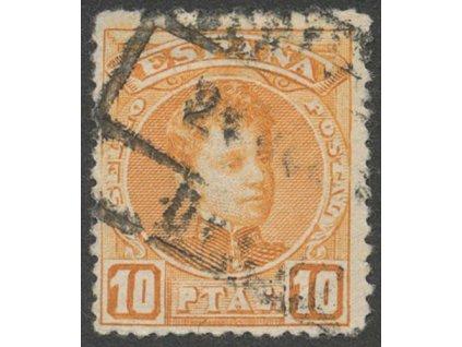 1901, 10 Pta Alfons, MiNr.217, razítkované, dv