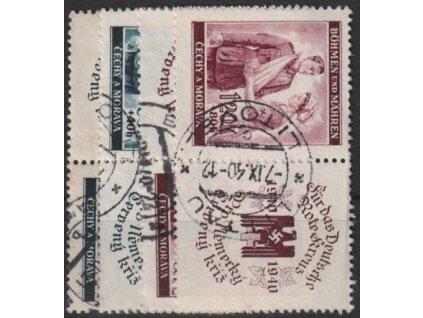 1940, 60h-1.20K ČK I, série, L+P kupony, Nr.50-1, razítkované, ilustrační foto