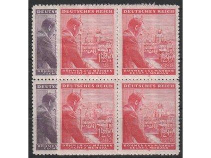 1943, 60h-1.20K Hitler, série, 4bloky, Nr.106-7, **